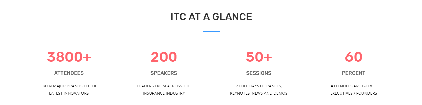 ITC at a glange statistics