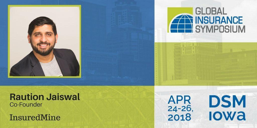 Raution Jaiswal at the Global Insurance Symposium